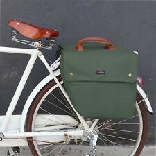 Tourbon Canvas Bike Bicycle Double Pannier Storage Bag Roll-up Rear Seat Rack