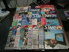 Atari St Start Magazines Lot 1986 - 1989 qty (12) Issues No Disks