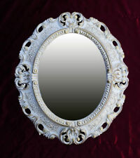 Muebles Antiguos Y Decoración Espejo Barroco De Pared Antiguo Reproducción Negro Blanco Dualcolor 50x76