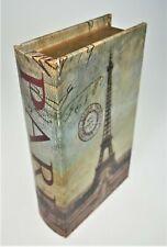 Paris Eiffel Tower Stash Storage Hide Faux Book Box Accent Decor Brown 9x5x2
