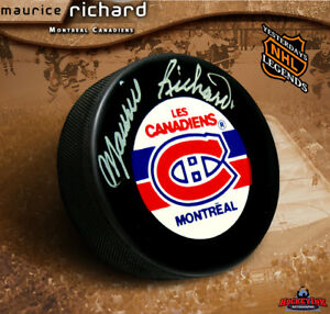 MAURICE RICHARD Signed Montreal Canadiens Puck