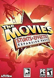 SEALED NEW The Movies: Stunts & Effects Expansion Pack - PC