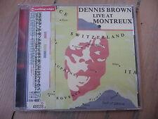 CD DENNIS BROWN - LIVE AT MONTREUX import japon avec OBI / excellent état
