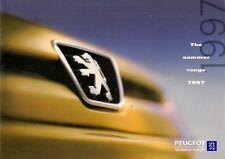 Peugeot Summer 1997 UK Market Sales Brochure 106 306 406 806