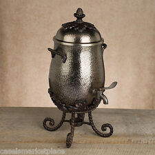 The GG Collection Antique Silver Finish Aluminum Metal Coffee Carafe Server