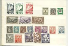 Andorra 26 Stamps 1931 to 1967 MH and used. Includes Spanish administration