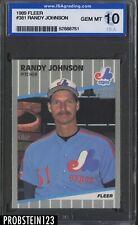 1989 Fleer #381 Randy Johnson Montreal Expos RC Rookie ISA 10 GEM MINT
