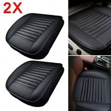 2X Universal Schwarz Auto Sitzauflage Sitzkissen Sitzmatte  PU  Leder Sitzbezüge