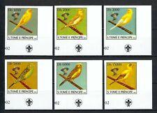 Sao Tome & Principe 2003 Sc#1500a-f  Lord Baden-Powell/Songbirds MNH Imp Set $9