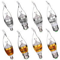 E27/E14/B22/E12 Flame Dimmable 3/6/9W LED Chip Chandelier Candle Light Bulb