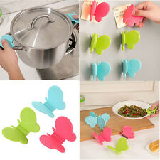 2 x Adorable Butterfly-Shaped Silicone Anti-Scald Device Kitchen Tool Gadget New
