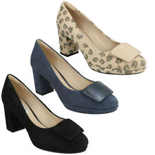 Clarks Suede Animal Print Heels for Women