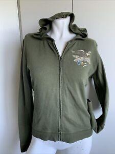 womens Harley Davidson full zip hoodie size medium Hot Rod Muskegon, MI green