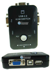 2 Ports USB 2.0 KVM VGA LCD Monitor & Printer Manual Selector Switch Box