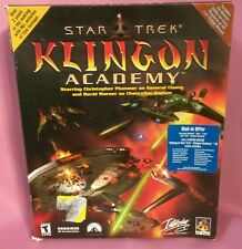 NEW! COMPLETE Star Trek: Klingon Academy (PC, 2000) (NIB)