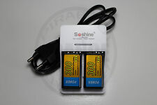 CHARGEUR SOSHINE + 2 PILES BATTERIE 9V NI-MH 300mAh RECHARGEABLE BATTERY ACCU