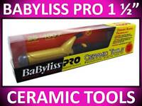"""BABYLISS PRO 1 1/2"""" CERAMIC TOOLS 400° SPRING CURLING IRON DUAL VOLTAGE CT155S"""