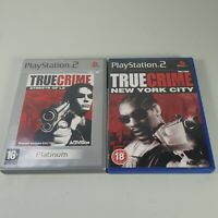 True Crime New York City & Streets of LA Playstation PS2 Video Game Manuals PAL