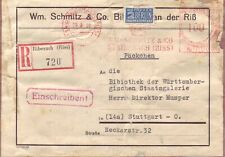 BRD AFS  Brief : Einschreiben Päckchen Biberach Riß 29.09.1950