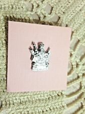 """ST. AGATHA  LAPEL PIN"", (BREAST CANCER) 1"" H, PEWTER  *NEW*"