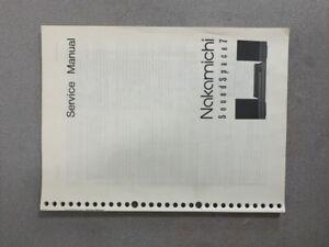 Nakamichi Sound Space 7 Service Manual