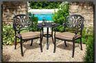 Hartman Amalfi Aluminium Garden Furniture Bistro Set Table & 2 Chairs