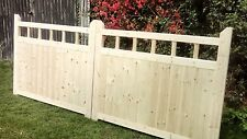 Wooden Garden Driveway Entrance Gates 4ft H x 10ft W  With Spindles