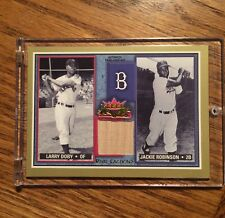2002 Fleer Larry Doby Bat Card Rival Factions W/ Jackie Robinson
