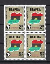1968 Biafra Sc# 1 Map of Biafra Independence Nigeria block 4 Mnh