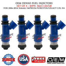4/UNIT OEM DENSO Fuel Injectors for 06-14 Subaru Impreza/Forester/Legacy 2.5L H4