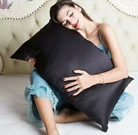 BlueHills Pure Natural Mulberry Silk Pillowcase for hair and skin Queen Black
