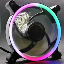 Multi-coloured LED computer fan. 20 x LED's. 120mm Super Quiet Powerfull PC fan