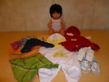 """EUC ~ Miniland 15"""" Anatomically Correct Asian Boy Baby Doll with Several Outfits"""