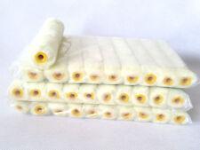"30 Roller Covers 6"" inch Mini Cover Refill White Stripe Soft Woven 1/2"""