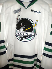 2011-12 OHL CHL PLYMOUTH WHALERS DYLAN MACDONALD GAME WORN HOCKEY JERSEY-LOA