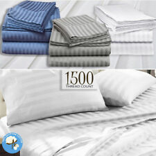 1500TC Egyptian Cotton Sateen Sheet Set or Doona Quilt Cover Hotel - All Size