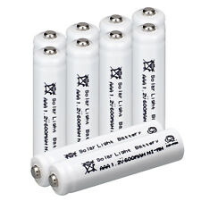 10pc NIMH 600mAh 1.2V AAA NI-MH Rechargeable 3A Batteries for Solar Light - USA