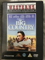 The BIG COUNTRY DVD Gregory Peck Charlton Heston Classic Western 1958 DEAGOSTINI