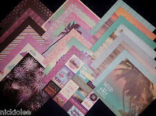 12X12 Scrapbook Paper Cardstock Summer Dream Beach Vacation Sunset Boardwalk 24
