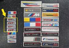 Peugeot GT-Line steering wheel metallic stickers and badges 208 308 108 508