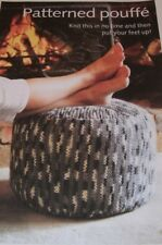 Patterned Pouffe ~  One Size ~ Chunky Knitting Pattern ~ Easy Design