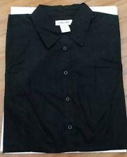 Women's Sp Cherokee Black Cotton Blouse Top Shirt 3/4 Sleeve FREE SHIPPING