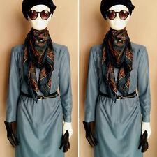 Vintage 1960's Blue Day Dress by Carnegie of London. Size 14.