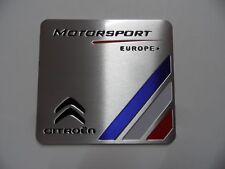 Citroën Motorsport 3D Alu Aufkleber, Sticker, Citroen Racing Emblem Schriftzug