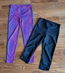 Under Armour Running Athletic Yoga Leggings Pants Women's Size M (Lot of 2)