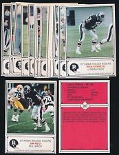 "1982 JOGO (CFL) Ottawa Rough Riders (3.5""x5"") -Complete Set (24) -NICE SET"