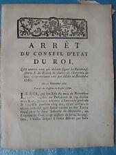ARRÊT 1787 : CREATION BILLETS DE CHANCE, emprunt de 120 millions (LOTERIE)