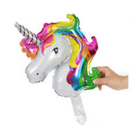 2pcs Large Unicorn Rainbow Foil Helium Balloon Child Birthday Party Decoration Y