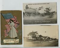 2 1910-20's Montgomery Minnesota Postcards MN & 1921 Real Photo RPPC Main Street