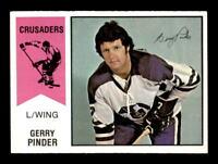 1974-75 O-Pee-Chee WHA #9 Gerry Pinder  NM/NM+ X1369452